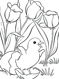 Spring Flowers Printable Coloring Pages Flower Template Preschool Free Archives Page Download Pictures To Color