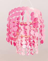 Pink DIY Paper Chandelier