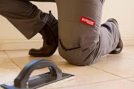 burson work wear work pants with built in knee pads