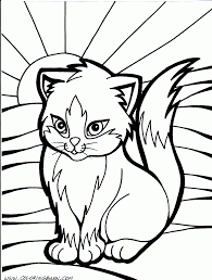 Cat Color Pages Printable Kitten Coloring