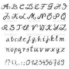 Simple Typography Alphabet Gray Hand Drawn Abc