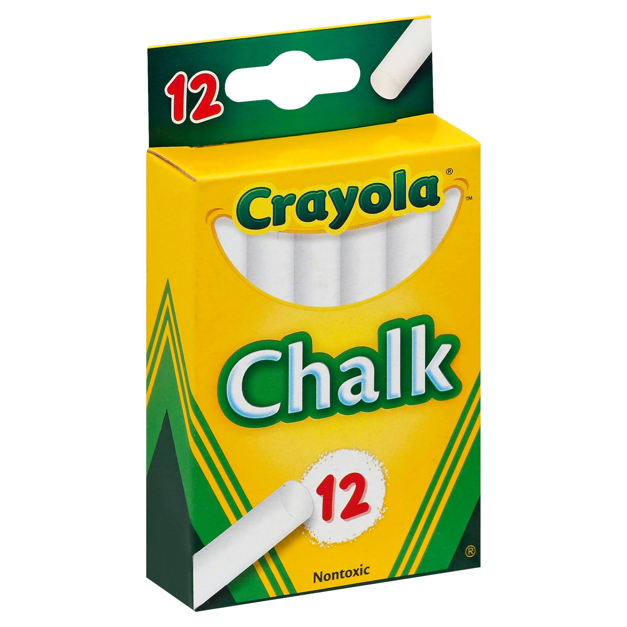 Crayola Chalk - White, 12 Pack