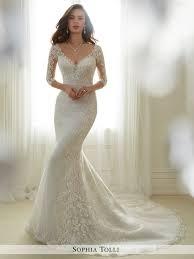 tulle soft trumpet wedding gown sophia tolli y11702