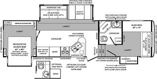 2008 Montana 5th Wheel Floor Plans by 5th Wheel 2 Bathroom Floor Plans Wildcat 323qb 2012 Bunk House