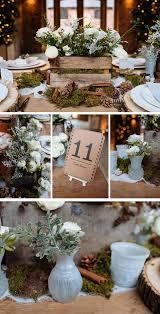 Rustic Winter Woodland Wedding Table Decorations