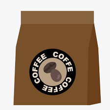 Cartoon Coffee Bean Package Clipart Beans PNG Image And