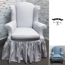 Lavender #linen Wingback Chair #slipcover With Gathered Skirt And ... Duval Wing Back Chair Beige Thrift Store Wingback Chair Linen Offeverydayclub Traditional Slipcover In Washed Linenlocal Clients Onlywing Ruffled Slipcoverwashed Linen Slipcoveryour How To Make Arm Slipcovers For Less Than 30 Howtos Diy Wingback Paris Tips Design Elegant Johnbaptistonline Summer Ottoman Upholstery Finn Slipcovered Swivel Armchair Sausalito Fniture Comfortable For Inspiring Tan Wingbacks By Shelley