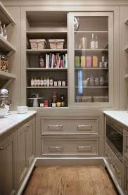 Pantry Cabinet Door Ideas by Warm White Kitchen Design U0026 Gray Butler U0027s Pantry Home Bunch An