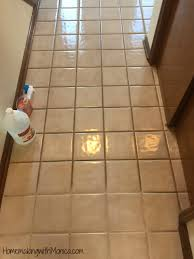 cleaning tile grout with vinegar