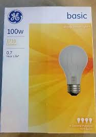 100w ge incandescent classic light bulb 4 pack 1710 lumen strong