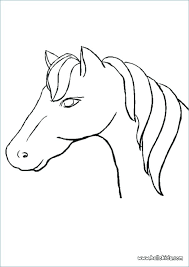 Horse Face Coloring Page Head Pages Printable Colouring