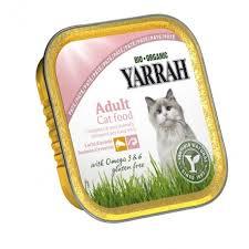 organic cat food yarrah organic cat salmon shrimp pate with omega 3 6 alu cup 100g