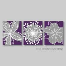 Purple Flower Print Trio