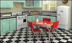 How Kitsch Is This 50s Kitchens Feature Bright Clashing Colours But Somehow Look Good Doing It