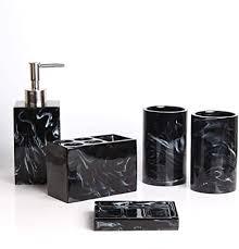 lcz set dining set badezubehör mode bad accessoires set 5 stück muster marmor tür zahnputzbecher seifenspender seifenschale