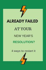 100 Resolution 4 What To Do If Youve Failed At Your New Years