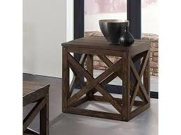 Lane 7586 Modern Rustic End Table | Rune's Furniture | End ... Lane 7332 Contemporary Chairside Table With Metal Base Fniture Nickel C Shape Findley End By At Morris Home 732641 732741 7588 Transitional Shelf Runes Hammered Copper In Warm Coffee Bean Nebraska 758141