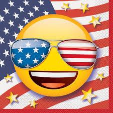Laughing Emoji Pumpkin Carving by Patriotic Emoji Party Napkins Emoji 4th Of July Party Supplies
