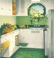 Linoleum Kitchen Decor Alluring 1940s Home Style