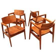 Wh Gunlocke Chair Co Wayland by Set Of Four Gunlocke Chairs At 1stdibs