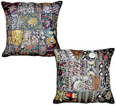 Oversized Throw Pillows Canada by 2pc Black Indian Patchwork Pillow Cover Black Bohemian Pillow