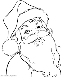 Free Printable Santa Claus Face Coloring Pictures For Kids Online Christmas