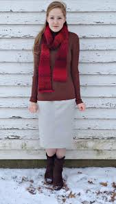Winter Pencil Skirt Outfit