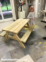 diy children picnic table myoutdoorplans free woodworking