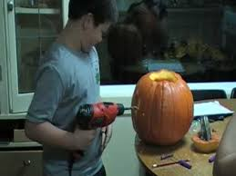 Pumpkin Carving Drill by Pumpkin Carving With A Drill Youtube