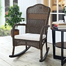 Have To Have It. Coral Coast Mocha Resin Wicker Rocking ... Resin Wicker Porch Rockers Easy Care Rocker Charleston Rocking Chair Camel Back Chairs Set Of Two White Summer Outdoor Belwood With Floral Cushions 3pc Cushion And End Table Faux Book Pocket Coral Coast With Khaki The Portside Plantation All Weather Tortuga