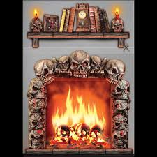 Halloween Scene Setters Canada by Gothic 4x5 Fireplace Skulls Wall Decoration Halloween Haunted