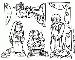 Jesus Born Coloring Page Birth Pages Printable