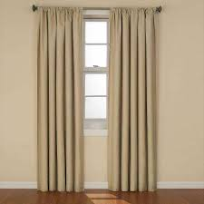 Gray Ruffle Blackout Curtains by Eclipse Curtains U0026 Drapes Window Treatments The Home Depot
