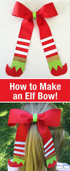 Learn How To Make An Elf Bow This Is A Cute Christmas Gift Idea Easy Craft For Girls Hair Or Unique Holiday Wrap