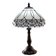Home Depot Tiffany Floor Lamps by Warehouse Of Tiffany White Jewels 19 In Bronze Stained Glass