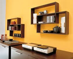 Teak Bathroom Wall Shelves by Modern Wall Ebookcase Made Of Teak Wood In Brown Finished Attached
