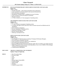 Download Service Delivery Line Manager Resume Sample As Image File
