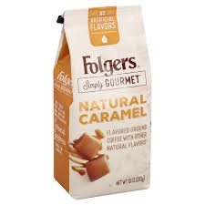 Folgers Simply Gourmet Flavored Ground Coffee With Other Natural Flavors Caramel 10 Ounce