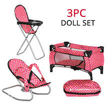 Exquisite Buggy Fash N Kolor Baby Doll Accessories - Includes Pack N Play  Doll Crib, Doll Baby Bouncer, Doll High Chair With Storage Bag 18 Inch Doll  ... Childrens Kids Girls Pink 3in1 Baby Doll Pretend Role Play Cradle Cot Bed Crib High Chair Push Pram Set Fityle Foldable Toddler Carrier Playset For Reborn Mellchan Dolls Accsories Olivia39s Little World Fniture Lifetime Toy Bundle Pepperonz Of 8 New Born Assorted 5 Mini Stroller Car Seat Bath Potty Swing Others Cute Badger Basket For Room Ideas American Girl Bitty Favorites Chaingtable Washer Dryerchaing Video Price In Kmart Plastic My Very Own Nursery Olivias And Sets Ana White The Aldi Wooden Toys Are Back Today The Range Is Better Than Ever Baby Crib Sink High Chair Playset