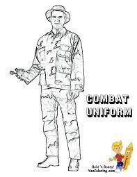 Army Man Combat Uniform Printable