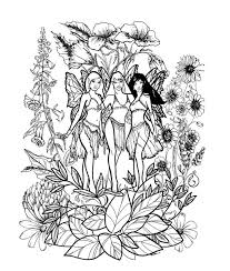 Goth Fairy Coloring Pages For Adults Save As To The File