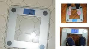 Taylor Bathroom Scales Accuracy by Review Eatsmart Precision Digital Bathroom Scale Youtube