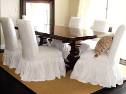 Table And Chair Covers Modern White Dining Room On Regarding