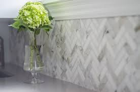 calcutta marble herringbone backsplash kitchen design