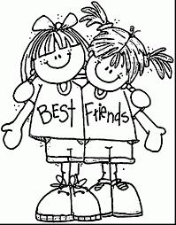 Stunning Best Friends Coloring Page Wecoloringpage With Friend Pages And Anime