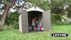 Rubbermaid Vertical Storage Shed by Lifetime 8 X 10 Foot Outdoor Storage Shed Model 60018 Youtube