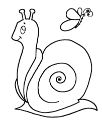Simple Snail And Butterfly