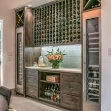 Contemporary Bar In Dining Room