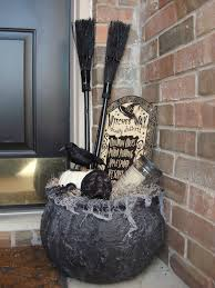 Halloween Porch Decorations Pinterest by Witches Cauldron With Goodies From The Dollar Store Sign Skull