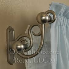 Umbra Double Curtain Rod Bracket by Pottery Barn Scroll Brushed Nickel Double Curtain Rod 96 120